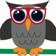 Stock Vector: Wise owl