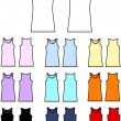 Tank top linen garment clothing - Stock Vector