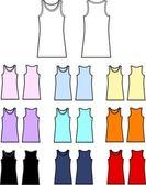 Tank top linen garment clothing — Stock Vector