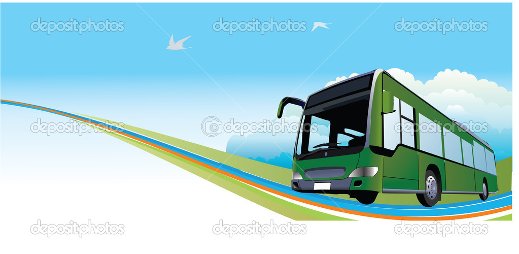 Travels Bus Travel Bus Banner — Vector