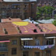 Drawing on the roof in Yerevan — Stock Photo