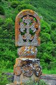 Oscillating column. Tatev monastery in Armenia — Stock Photo