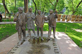 "Yerevan. Monument to the main characters of the movie ""Men"" — Stock Photo"