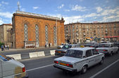 Traffic in Yerevan. Armenia — Stock Photo
