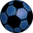 Flag of Europe soccer bal — Stockfoto
