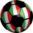 Stock Photo: Flag of Italy soccer bal