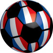 Flag of France soccer ball — Stock Photo
