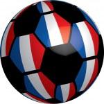 Flag of France soccer ball — Stock Photo #8029768