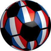 Flag of France soccer ball — Stock Photo