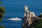 Swallow's Nest against the sea — Stock Photo