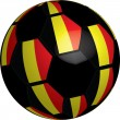 Flag of Belgium soccer bal — Stock Photo #8043751
