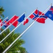 Flags of countries — Stock Photo
