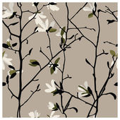 Magnolia Seamless Pattern — Stock Vector