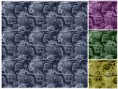 Skull Seamless Pattern — Stock Photo