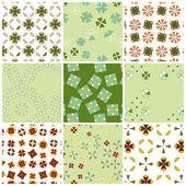 Geometric Patterns Set — Stock Vector