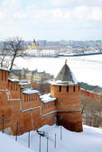 April in Nizhny Novgorod Kremlin Russia — Stock Photo