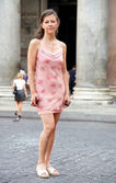 Pretty young woman in Rome Italy — 图库照片