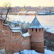 November view Strelka from Nizhny Novgorod Kremlin Russia — Stock Photo