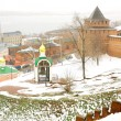 November view Kremlin Nizhny Novgorod Russia — Stock Photo