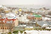 Panorama november snö visa nizhny novgorod ryssland — Stockfoto