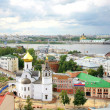General view of summer Nizhny Novgorod in Russia — Stock Photo
