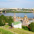 Scenic view of summer Nizhny Novgorod, Russia — Stock Photo #8008153