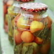 Stock Photo: Homemade marinated tomatoe