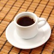 Small cup of black coffee in the morning — Stock Photo