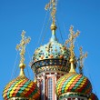Colorful domes of Stroganov Church. Nizhny Novgorod, Russia. — Stock Photo