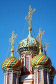 Colorful domes of Stroganov Church. Nizhny Novgorod, Russia. — Stock Photo