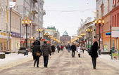 Pokrovka - main street of Nizhny Novgorod Russia — Stock Photo