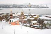 Vue de janvier de strelka nijni novgorod en russie — Photo