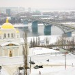January view Annunciation Monastery Nizhny Novgorod Russia - Stock Photo