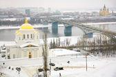 January view Annunciation Monastery Nizhny Novgorod Russia — Stock Photo