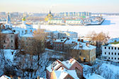 Snow January view of Nizhny Novgorod Russia — Stock Photo