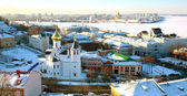 Panoramic January view of Nizhny Novgorod Russia — Stock Photo