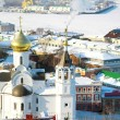 Stock Photo: February view of Church KazIcon of Mother of God Nizhny N