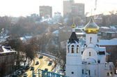 Church of Kazan Icon in sunlight Nizhny Novgorod Russia — Stock Photo