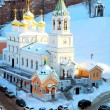 february view of john the baptist church nizhny novgorod russia — Stock Photo