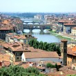 Bridge Ponte Vecchio crossing Arno River Florence — Stock Photo #9485336