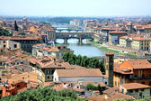 Bridge Ponte Vecchio crossing Arno River Florence — Stock Photo