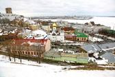 Panorâmica de março ver os nizhny novgorod na rússia — Foto Stock