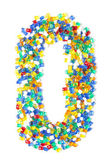 Zero from beads on a white background — Stock Photo