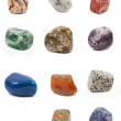 Mineral stones on a white background — Stock Photo