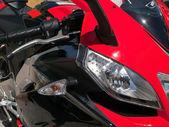 Red motorbike — Stock Photo