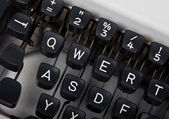 Keyboard of typewriter — Stock Photo