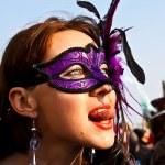 Masked girl in Venice — Stock Photo