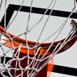 Basketball rim and net — Stock Photo