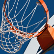 Stock Photo: Basketball net with backboard