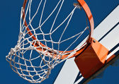 Basketball net with backboard — Stock Photo